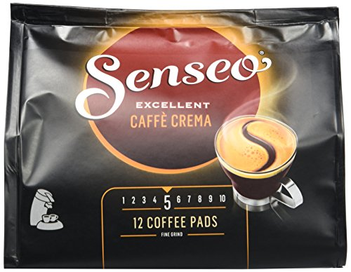 Senseo Cafe Crema Excellente, 12 Kaffee Pads, 5er Pack